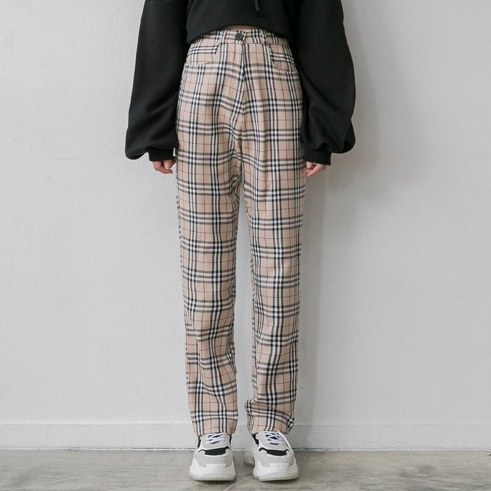 [ROCOSIX官方旗艦店] 格紋長褲