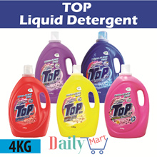 [TOP] Concentrated Liquid Detergent 4KG Colour Protect/Stain Buster/Odour Buster/Brilliant Clean
