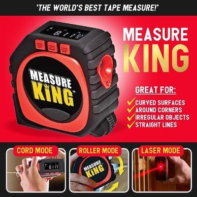 Measure King 3 in 1 Mode Roller Sonic Tape Digital Display Tools Accessories LOT