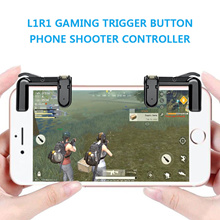 L1R1 Sharpshooter Gaming Trigger Fire Button Phone Shooter Controller PUBG for Games on Smartphone