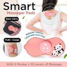 Smart Massage Pad - 2019 Latest EMS Technology Portable Massage Pad - Rechargeable - Use it anywhere