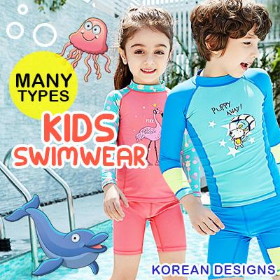 64b24dcfe5 Korean Design Kids Swimwear Surfwear Divewear Sailwear Swimming Suit Unisex