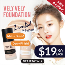 (New Arrival) Vely Vely NO OXIDATION! H2O Ampoule + Long Lasting Foundations | 2 Types | 2 Colours