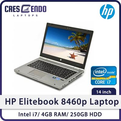 HPRefurbished HP Elitebook 8460p Laptop / 14inch/ Intel i7/ 4GB RAM/ 250GB  HDD/ Win 7 / 1 mth Warranty