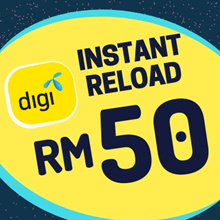 Digi instant Top UP RM50[Each mobile number can only top up once per day after 24 Hours]