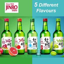 (Bundle of 8 x 360ml)Jinro Flavoured Soju (Chamisul/Grapefruit/Strawberry/Green Grape/Plum)