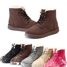 新款秋冬季加绒加厚雪地靴棉鞋短靴女鞋学生短筒马丁靴女靴子