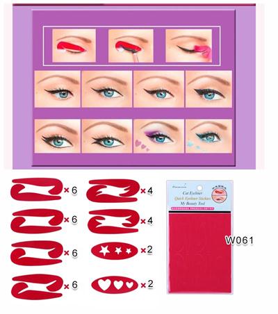 Eyeliner stickers and stencils cat eyeliner hair ties baby headband clip hair