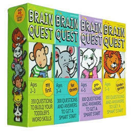 Brain Quest Card/child game card/Puzzle/Quiz/Kid Story Book/For 2~13Years Baby/Toy/Children Game!