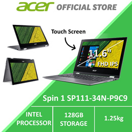 Acer Spin 1 SP111-34N-P9C9 Convertible Laptop with Stylus