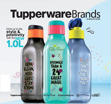 Tupperware Water Bottle 1L Stay Positive Eco Bottle BPA Free Limited Edition Christmas Gifts