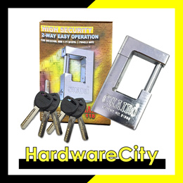 Chairo 118 2-Way Easy Operation Padlock with Bendable Bolt For New BTOHDBGates HighSecurity(New 118)