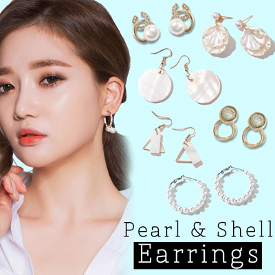 10-16mm Pink Baroque Pearl Earrings Ear Drop Hook Party Wedding Natural Classic