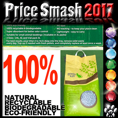 * PriceSmash * Green Kat litter 100% recycled