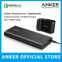 Anker Powercore+ 26800mah and Quick Charge 3.0 USB Wall Charger PowerBank  Cable