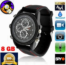 Mini HD 720P Waterproof Spy Camera Watch Hidden Camcorder 8GB 30FPS Recorder Watch