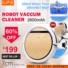 [SG Local Warranty/SG Seller] Intelligent Robot Vacuum Cleaner/ Ultra Slim 7cm/ 2600mAH/