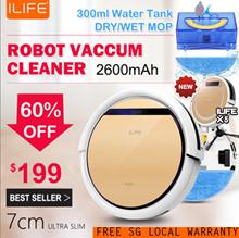 [SG Local Warranty/SG Seller] Intelligent Robot Vacuum Cleaner/ Ultra Slim 7cm/ 2600mAH/