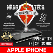 Nanotech Tempered Glass Screen Protector Apple iPhone 11 Pro Max/X/Xs/XR/8/7/6 Plus/Watch Series 5/4