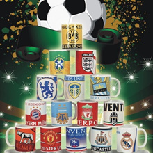 New Design!! Soccer Club Porcelain Cup Mug Gift. Manchester United/Arsenal/Liverpool/Real Madrid