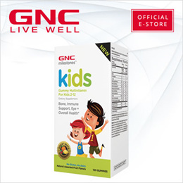 GNC Milestones™ Kids Gummy Multivitamin (120 Gummies) [Vitamins/Immunity/Healthy Eye/Fruit Flavour]