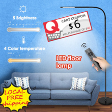 ⚡PROMO⚡LED Floor Lamp Dimmable and Color Adjustable Remote Control Touch Standing Light Eye care