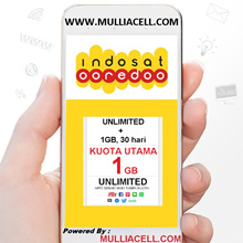 Indosat Regular 1GB + UNLIMITED Internet Paket Data / Internet BACA PRODUK/DESKRIPSI [Mulliacell]