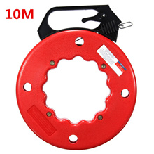 10M Reel Fish Tape Wire Cable Puller Threader Electrician Electrical Plumber