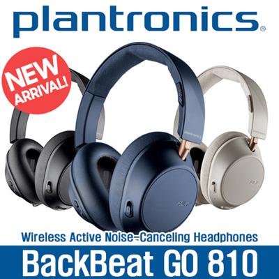 9e52a20b8a8 Plantronics BackBeat GO 810 Wireless Headphones, Active Noise Canceling  Over Ear Headphones
