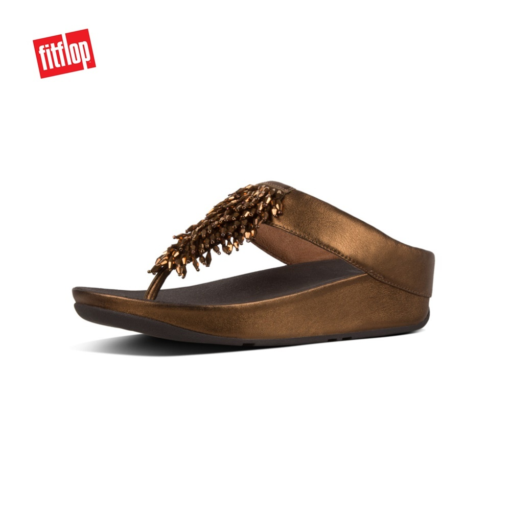 6d8973472a57 fit to viewer. prev next. Fitflop™ Rumba Toe-Thong Bronze Women Sandals