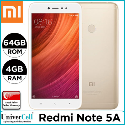 Xiaomi Redmi Note 5A Smartphone / 64GB ROM Deals for only S$399 instead of S$0