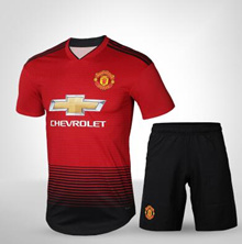 Manchester United jerseys 18-19 adult home fans version training suit short-sleeved t-shirt