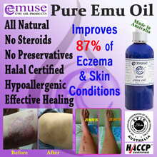 EMUSE Pure Emu Oil 250ml - 100% Natural. Relieve Eczema/Psoriasis/Diaper Rash/Skin Rash etc..