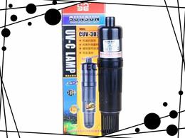 3W 220-240V SUNSUN CUV-303 UV Light Sterilizer Aquarium Fish Tank Lamp Black Color (Size: 3W, Color: