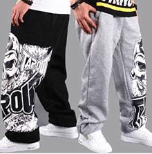 Fashion Men s Hip-Hop Track Pants Rap sport Skate Boys Parkour Loose casual pant