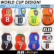 ★ Puppy Clothes ★ Fifa ★ World Cup ★ Dog shirts ★ Country Flag ★ Dog / Doggy / Pet
