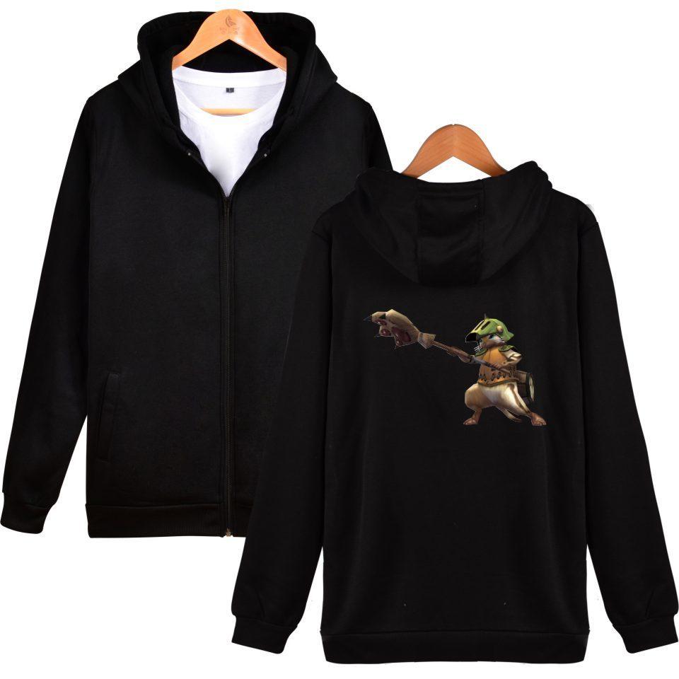 SMZY MHW Zipper Hoodies Mens Sweatshirts Monster Hunter World Pop Game  Sweatshirts Men Japanese Famo
