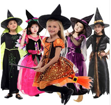 Halloween Costumes for Children Kids Witch Costume Fancy Fantasia Infant Witch Cosplay for Girl Girl