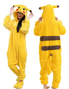 Pikachu  Onesie Cartoon Unisex Costumes cospaly皮卡丘连体衣