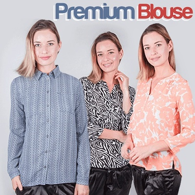 [Millenia ID] Woman Branded Long Sleeve Blouse Printed Deals for only Rp29.000 instead of Rp72.500