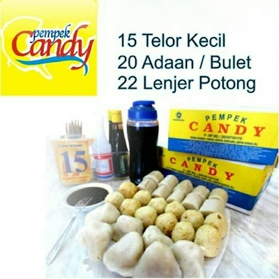 Pempek Candy Paket Kecil 57pcs Deals for only Rp145.000 instead of Rp278.846