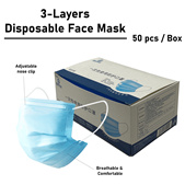 (PREORDER) Disposable Face Mask-3 Ply (50 pieces)