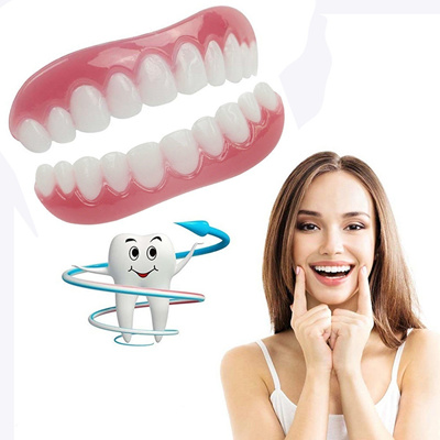 1PC/2PC Instant Smile Comfort Fit Flex Cosmetic Teeth Denture Teeth Top  Cosmetic Fake Teeth Top