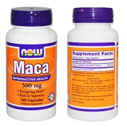 Now Foods MACA 500 mg - 100 Veggie Capsules. Made in USA.