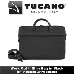 CLEARANCE! TUCANO Work Out II Slim 13 inch Note (Black) (A) WO2-MB13