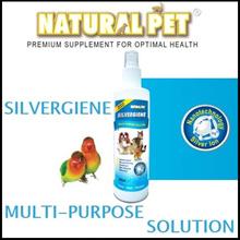 ★Natural Pet★ Natural Pet Silvergiene | 250ml | 99.99% Pure Nano Silver | Anti bacterial |Antifungal