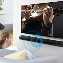 SAMSUNG Sound Bar HW-J250 / Embedded Woofer / Clear Voice / Small Size but Powerful Sound / Bluetooth Hi-Fi Codec / Easy Wireless Connection / Vented Enclosure