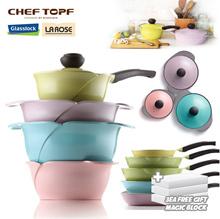 [CHEF TOPF] LA ROSE diecasting pot / wok / pan / ceramic pot / fryingpan / glasslock cheftopf