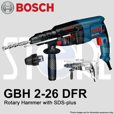 qoo10 bosch gbh 2 26 dfr rotary hammer with sds plus. Black Bedroom Furniture Sets. Home Design Ideas