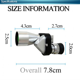 Teropong Monokular Portable - Pocket Monocular MINI High Definition Telescope Adjustable - 8 x 20mm-
